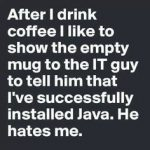 Successfully installed java... ugh.